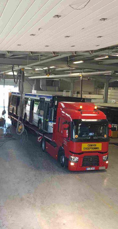 camion porte Bus